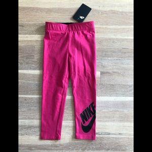 Girls Nike dark pink leggings size 4T NWT